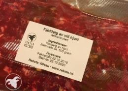 Kjøtdeig av hjort - Reksta Villsau